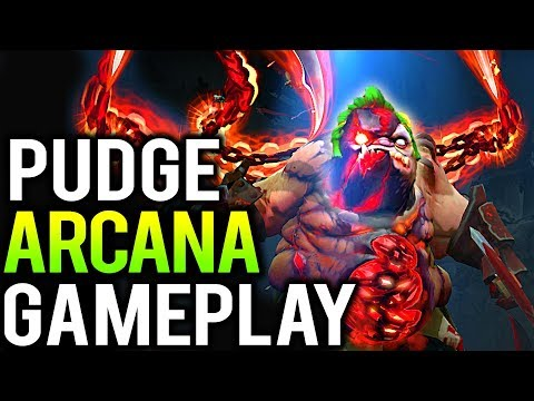 *NEW* PUDGE ARCANA GAMEPLAY + PREVIEW (The Feast of Abscession PUDGE ARCANA PATCH 7.12 DOTA 2)