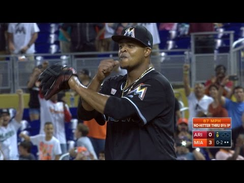 Volquez completes no-hitter with strikeout