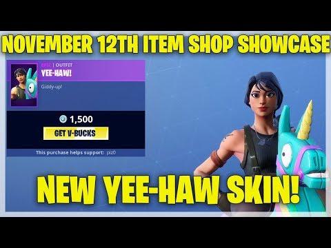 Fortnite Item Shop NEW YEE-HAW! SKIN! [November 12th, 2018] (Fortnite Battle Royale)