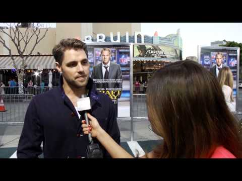 Sam Page Talks House of Cards At the Draft Day Premiere!