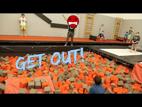 HOW TO GET KICKED OUT OF A TRAMPOLINE PARK!