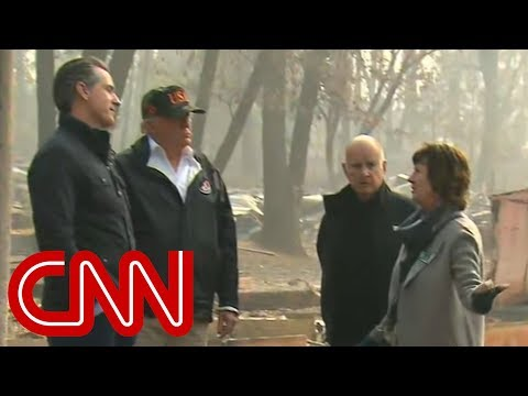 Trump tours fire-ravaged town: Well get it taken care of