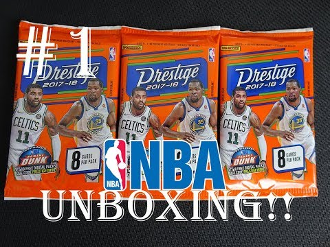 NBA 2017/18 PANINI PRESTIGE UNBOXING #1 | PRETTY EPIC LOOKING CARDS!!