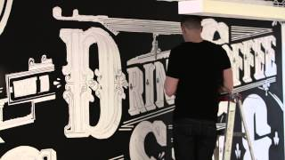 I Just Want To Drink Coffee, Create Stuff & Sleep - Painted Mural x Ben Johnston
