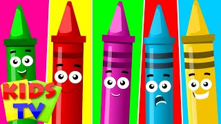 five little crayons | crayons song | original children songs by Kids tv