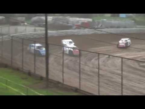 Kenny Johnson AMRA Modified Heat Race Legendary Hilltop Speedway 812014