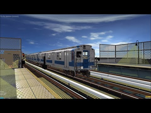 OpenBVE HD: Chasing NYC Subway IND R9 Along BMT Jamaica Elevated on Z Skip-Stop Train