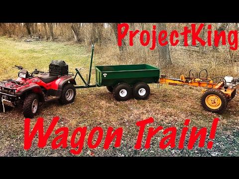 ATV Wagon Train!  MUTS Trailer Rear Hitch