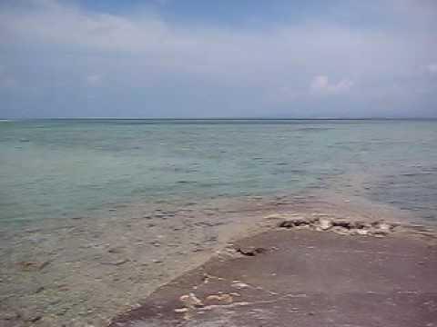 竹富島の西桟橋のパノラマ風景