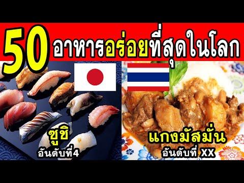 50อันดับอาหารที่อร่อยที่สุดในโลก(น้ำลายไหล)