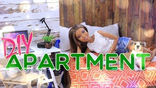 DIY - How to Make: Doll Apartment   Bedroom   Kitchen   Livingroom and MORE!!