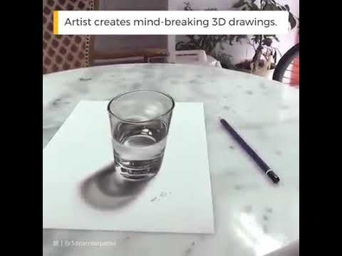 3d painting. Only by pencil…..