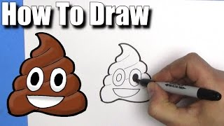 How To Draw the Poop Emoji- EASY- Step By Step