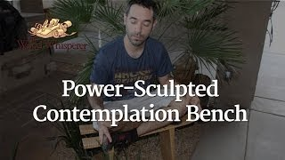 214 - Power Sculpted Contemplation Bench