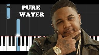 Mustard, Migos - Pure Water (Piano Tutorial)