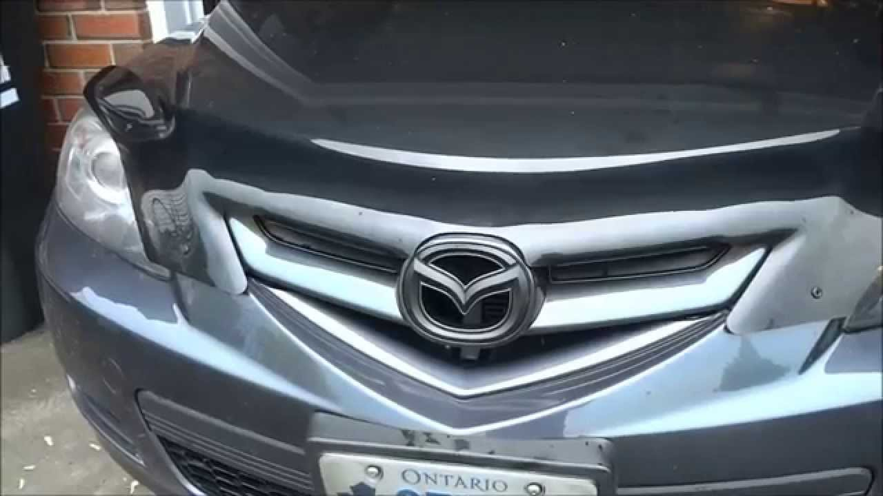 Plastidipping The Front Mazda Emblem On A Mazda 3 - YouTube