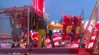 Avenger - Holzem, KMG Inversion Neuheit 2013 - Das Aufbau Premiere Video by kirmesmarkus 2013