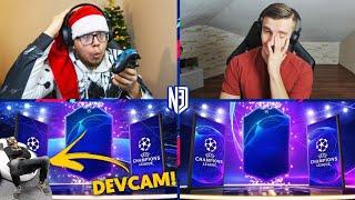 MEGA PACK'N'PLAY LIGI MISTRZÓW Z LISKIEM! | FIFA 19 *devcam*