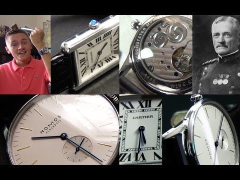 Two Of The Classiest Dress Watches EVER? - Nomos Orion 38 & Cartier Tank Solo Luxury Watch Reviews