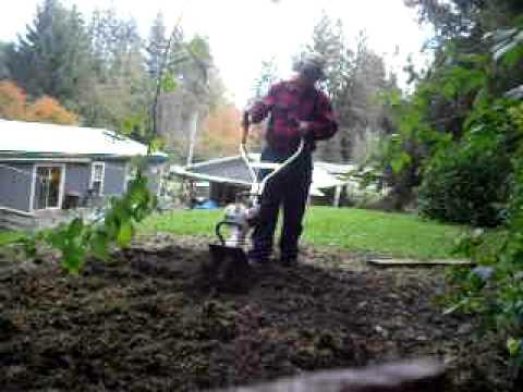 Stihl Mm 55 Yard Boss Tiller Cold Start Tilling The Garden One Final Time You