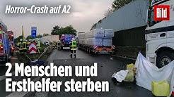 Auto rast unter Lkw | Drei Tote bei Horror-Unfall auf der A2 im Ruhrgebiet