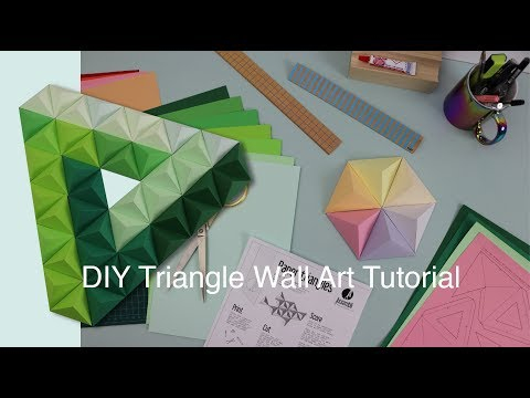 Paper Triangle DIY   Papercraft Art   easier then Origami!