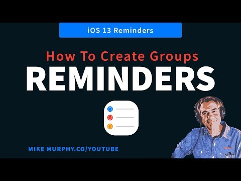 Reminders: How To Group Lists in iOS 13