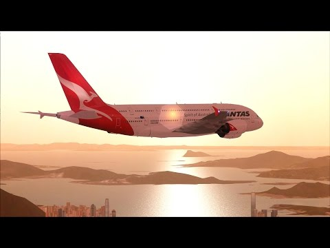 FSX A380 Sydney to Hong Kong [AMAZING REALISM+EXTREME GRAPHICS]