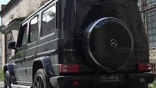 Спортивный глушитель на Mercedes G500 2014 года