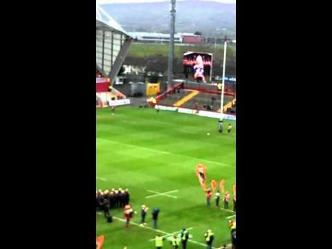 Sinead O Brien sings SUAF Munster V Connacht