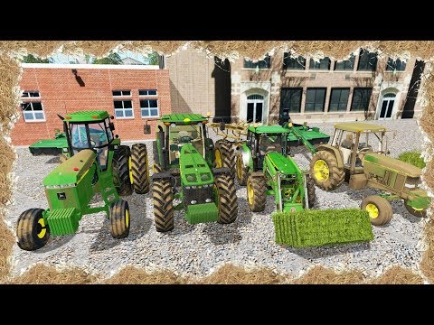 FARMING SIMULATOR 2017 | HAY DAY 2017 | 4 MAN CREW MOWING, RAKING AND BALING HAY!