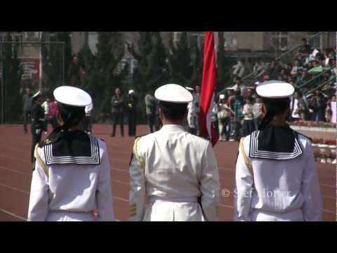 Chinese Students Military Parade
