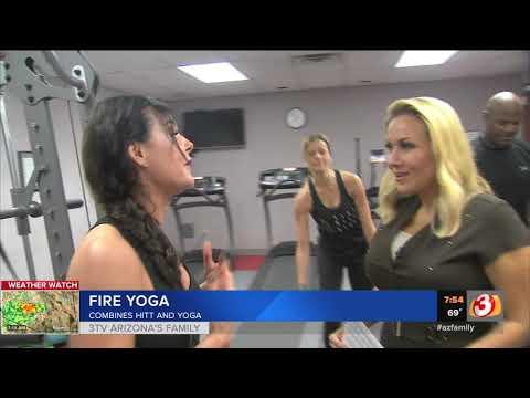 VIDEO: Phoenix-area gym introduces 'fire yoga'