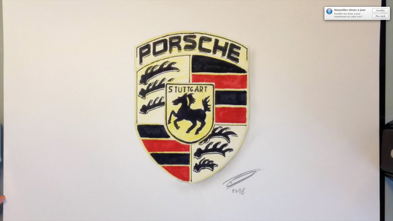 Dessin logo porsche youtube for Plans de dessins de porche
