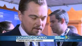 Leonardo DiCaprio, Martin Scorsese, and Jonah Hill at Santa Barbara International Film Festival