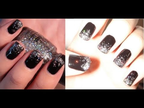 """""""Black Ice"""" New Years Eve Nail Tutorial!!"""