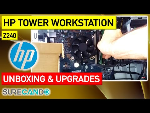HP Z240 Workstation Unboxing, RAM Upgrade, Hard Drive Install