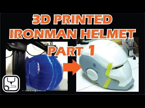 3D Printed Iron Man Helmet PART 1   Printing, Sanding and Priming.