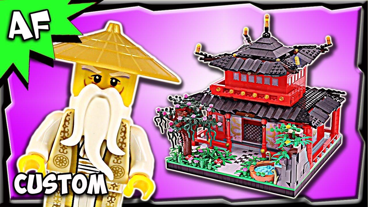Custom Lego Ninjago Temple Of Master Wu Moc Stop Motion Build Review