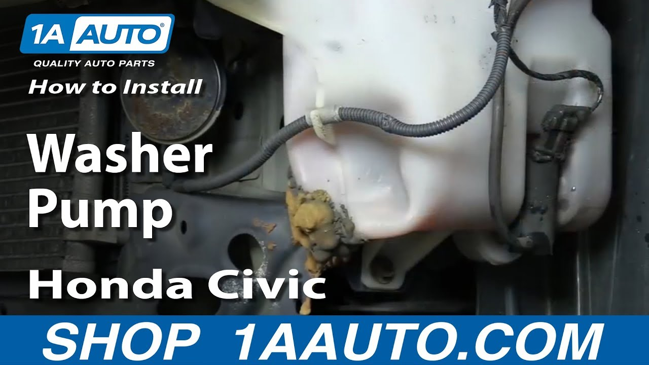 how to remove install washer pump 2001 05 honda civic [ 1280 x 720 Pixel ]