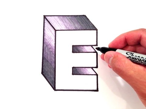 how to draw the letter e in 3d youtube. Black Bedroom Furniture Sets. Home Design Ideas