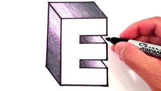 How to Draw the Letter E in 3D