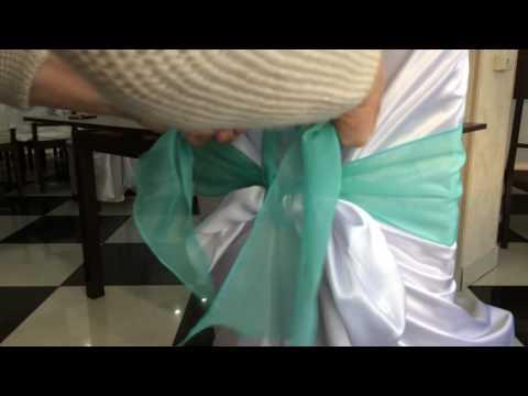 Как сшить бант на стул для свадьбы