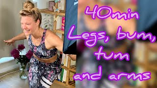 Legs, bums, tums, abs and arms workout: No Equipment, Exercise at Home