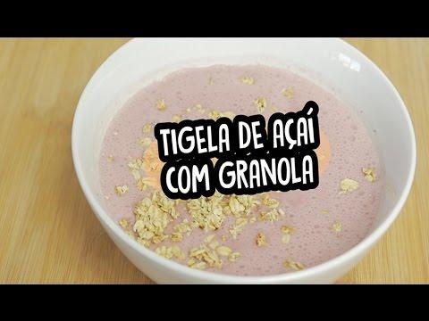 Tigela de açaí com granola