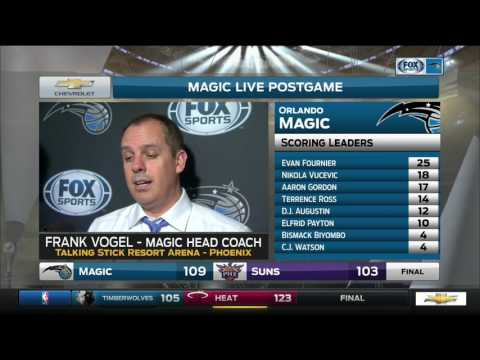 Frank Vogel -- Orlando Magic at Phoenix Suns 03/17/2017