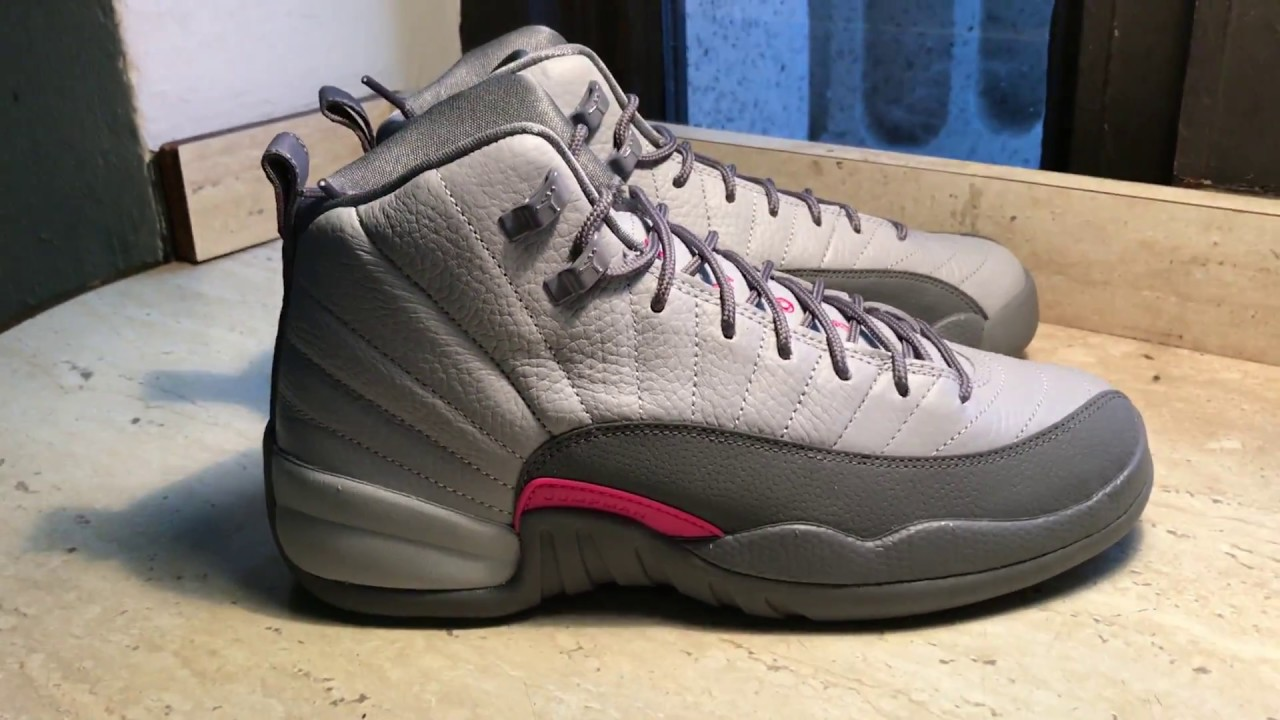 0d97d0c98cf Air Jordan 12 Wolf Grey Vivid Pink 510815 029 - YouTube