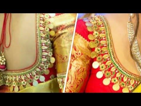 Lakshmi Kasu Aari Embroidery Blouse Neck Designs | Lakshmi Kasu Coin Designs | Aari Work | UMA
