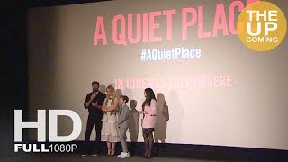 A Quiet Place premiere in London: Emily Blunt, Noah Jupe, John Kosinski speech and fans experience