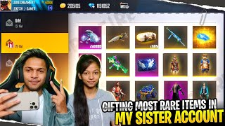 Giving Surprise Gift To My Sister 30,000 Diamonds And Buying All New Rare Items😱😱😱 Garena free fire